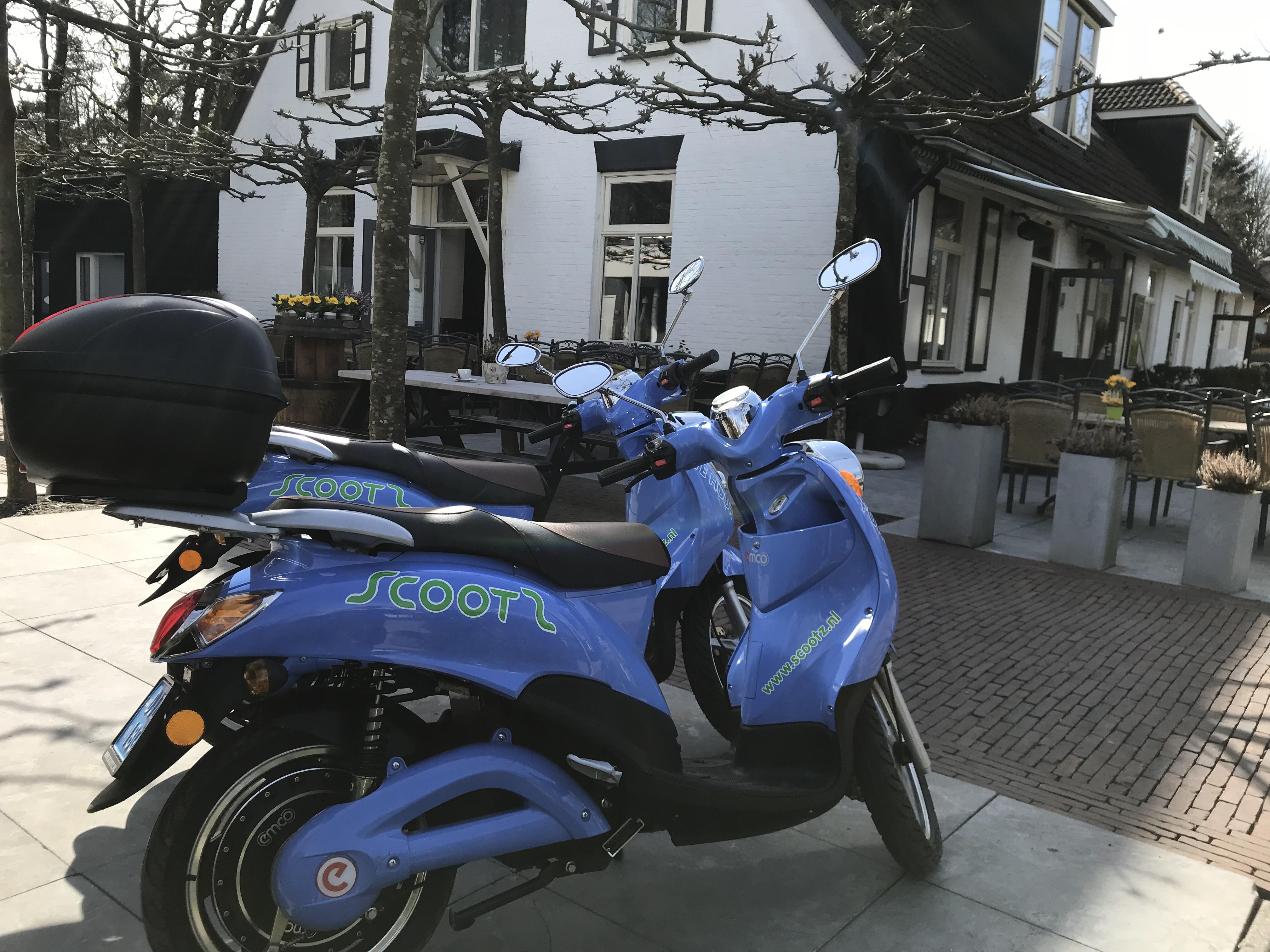 Scooter huren bij Restaurant Boshuis
